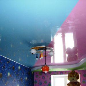 потолок ПВХ – цветной глянец. Производcтво Германия ( Pongs) Площадь : 16 м2 Стоимость : 11 400 руб