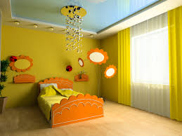Двухуровневый натяжной глянцевый потолок со светодиодной лентой в детской комнате - 18 м2