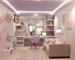 Натяжной потолок - белый, матовый, парящий со светодиодной лентой в детской комнате - 10 м2