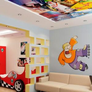 Натяжные потолки в детской комнате - 12 м2