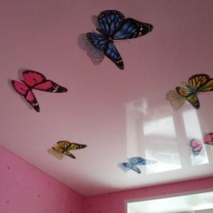 Натяжные потолки в детской комнате - 14 м2