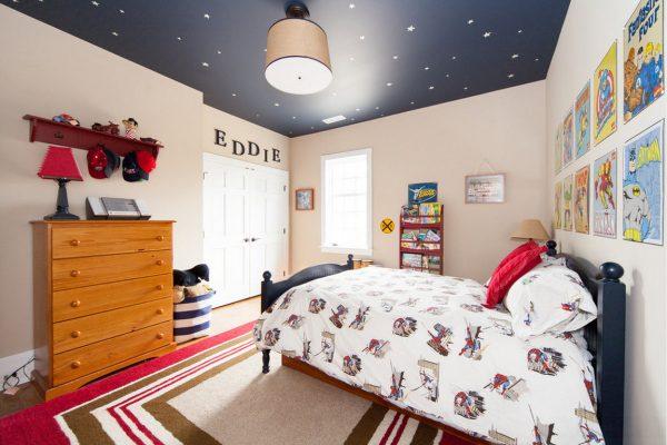 Натяжные потолки в детской комнате - 18 м2