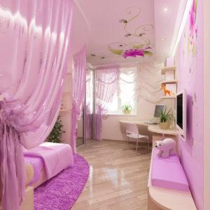 Натяжные потолки в детской комнате - 7 м2
