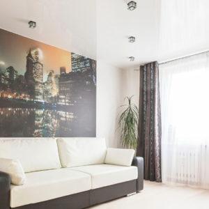Натяжные потолки в гостиной - 18 м2