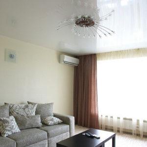 Натяжные потолки в гостиной - 22 м2